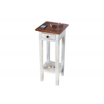 Tömörfa asztalka fiókkal, 75 cm - IBIS